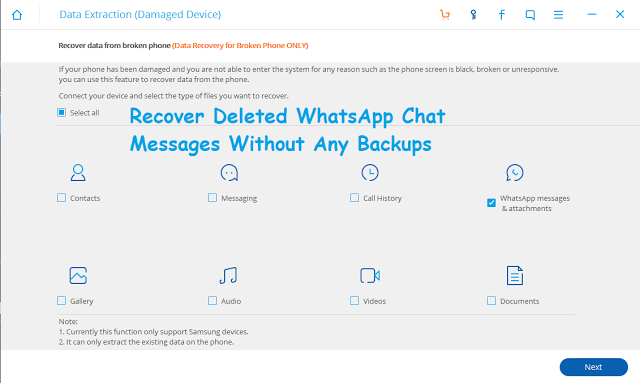 how to get deleted chat on whatsapp