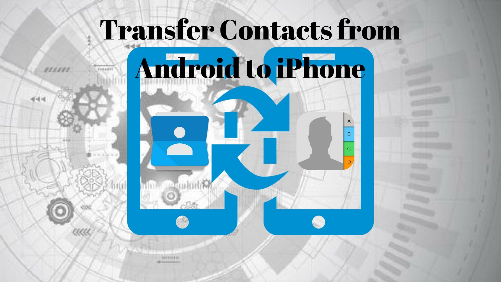 move from android to iphone transfer contacts from android to iphone quicktip 1969