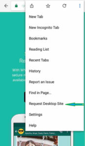 WhatsApp Request Desktop Site